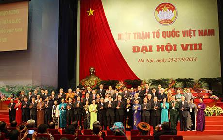Bế mạc Đại hội đại biểu toàn quốc MTTQ Việt Nam lần thứ VIII.