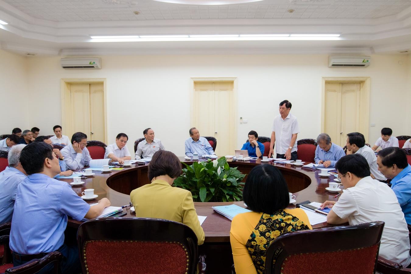Phó Thủ tướng Thường trực Trương Hòa Bình làm việc với Hội Luật gia Việt Nam về công tác chuẩn bị tổ chức Đại hội đại biểu toàn quốc lần thứ XIII (2019-2024) - Ảnh 3