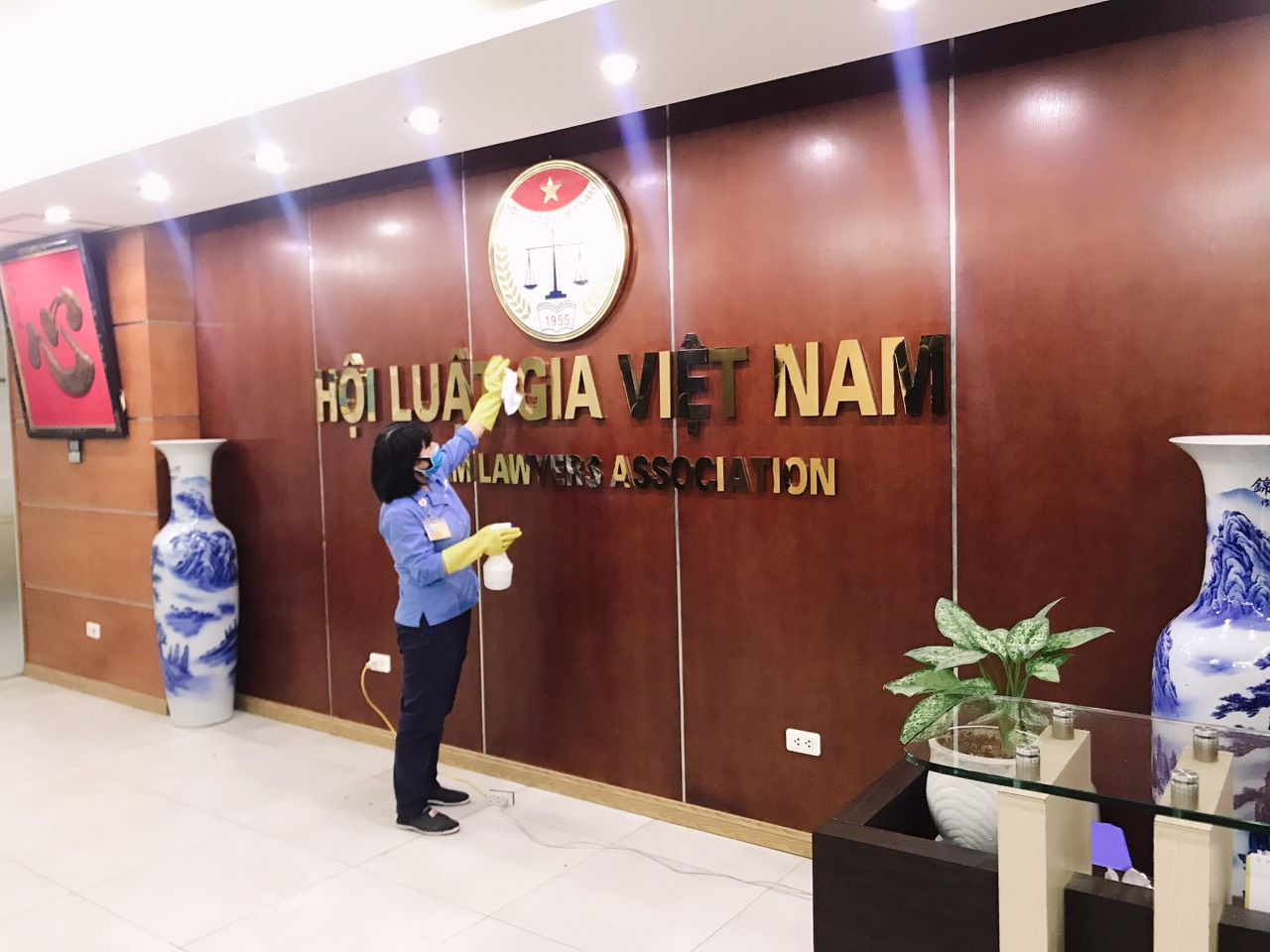 Tăng cường các biện pháp phòng, chống dịch Covid-19 tại Trụ sở cơ quan Trung ương Hội Luật gia Việt Nam - Ảnh 2