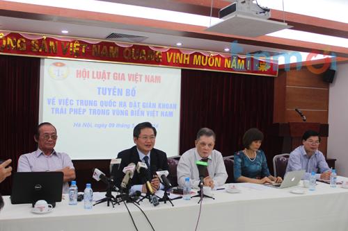 Hội Luật gia Việt Nam tuyên bố phản đối Trung Quốc hạ đặt trái pháp giàn khoan HD981