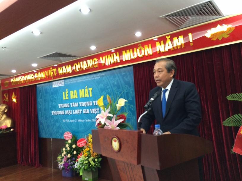 Trung tâm Trọng tài Thương mại Luật gia Việt Nam tổ chức Lễ ra mắt