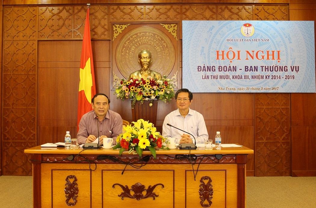 Hội nghị liên tịch Đảng đoàn, Ban Thường vụ Trung ương Hội Luật gia Việt Nam lần thứ mười, khóa XII