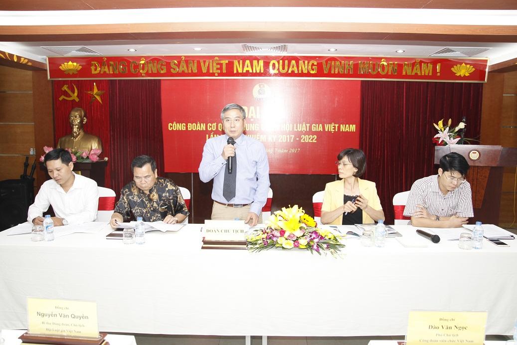Công đoàn Cơ quan Trung ương Hội Luật gia Việt Nam tổ chức Đại hội lần thứ năm, nhiệm kỳ 2017 - 2022.