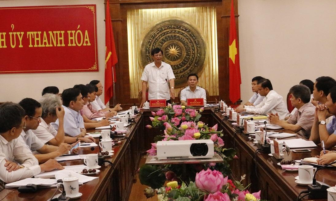 Đảng đoàn Hội Luật gia Việt Nam làm việc với Thường trực Tỉnh ủy và Thường trực Ủy ban Nhân dân tỉnh Thanh Hóa.