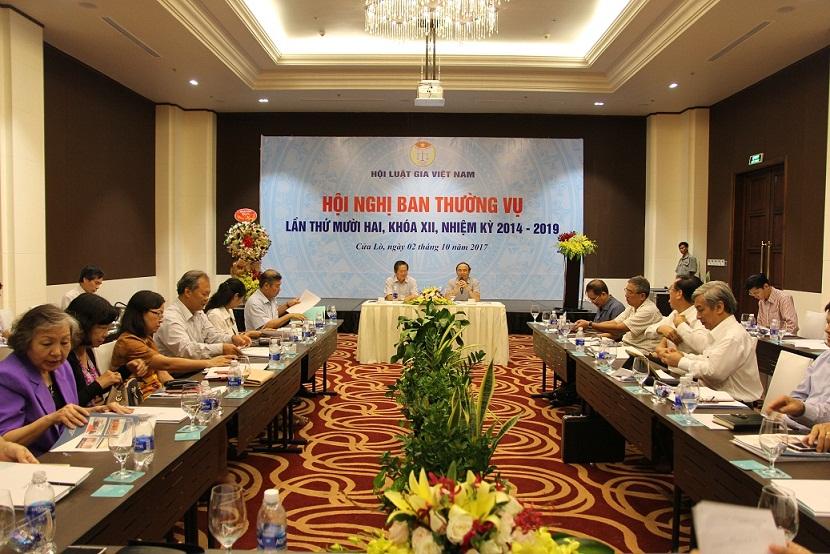 Ban Thường vụ Trung ương Hội Luật gia Việt Nam họp Hội nghị lần thứ mười hai, khóa XII, nhiệm kỳ 2014 - 2019