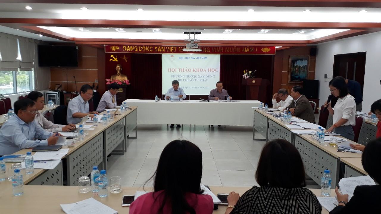 Hội thảo về phương hướng xây dựng Bộ Chỉ số tư pháp