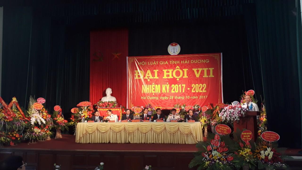 Hội Luật gia tỉnh Hải Dương tổ chức Đại hội đại biểu lần thứ VII, nhiệm kỳ 2017 - 2022