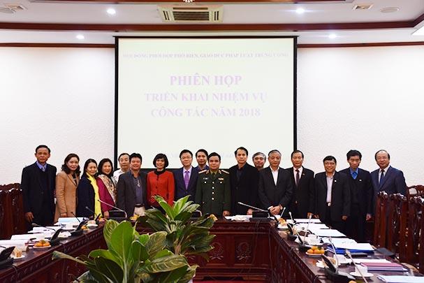 Hội đồng phối hợp phổ biến, giáo dục pháp luật Trung ương triển khai công tác năm 2018