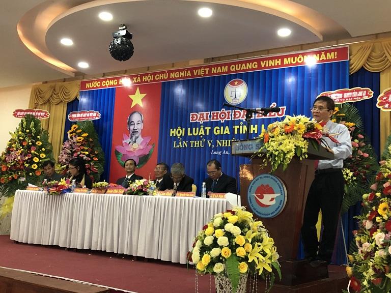 Hội Luật gia tỉnh Long An tổ chức Đại hội lần thứ V, nhiệm kỳ 2017 - 2022