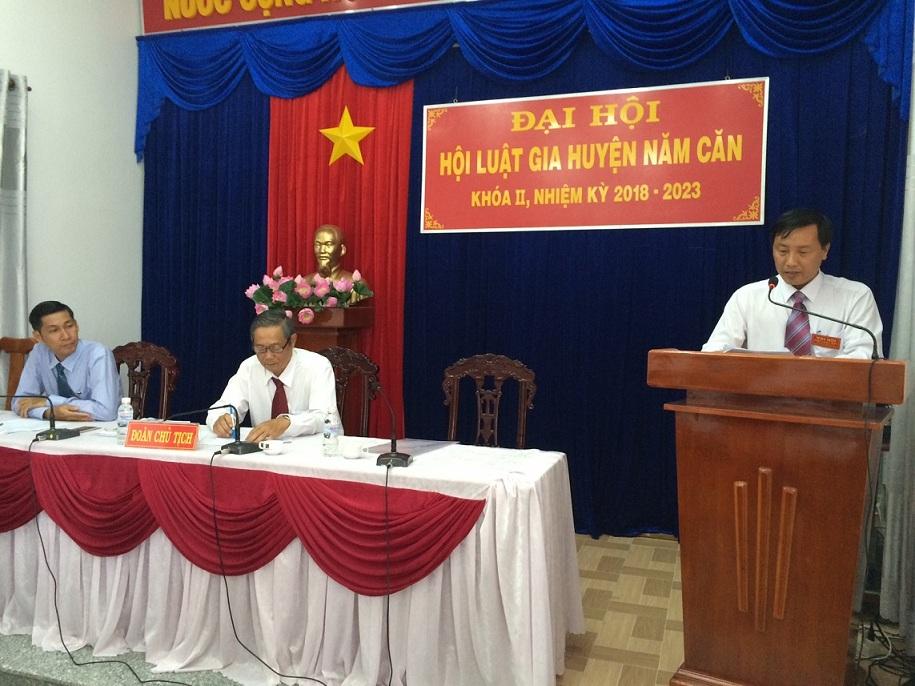 Hội Luật gia huyện Năm Căn, tỉnh Cà Mau tổ chức Đại hội nhiệm kỳ 2018 - 2023