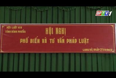 Hội Luật gia tỉnh Bình Phước tổ chức phổ biến, tư vấn pháp luật lưu động