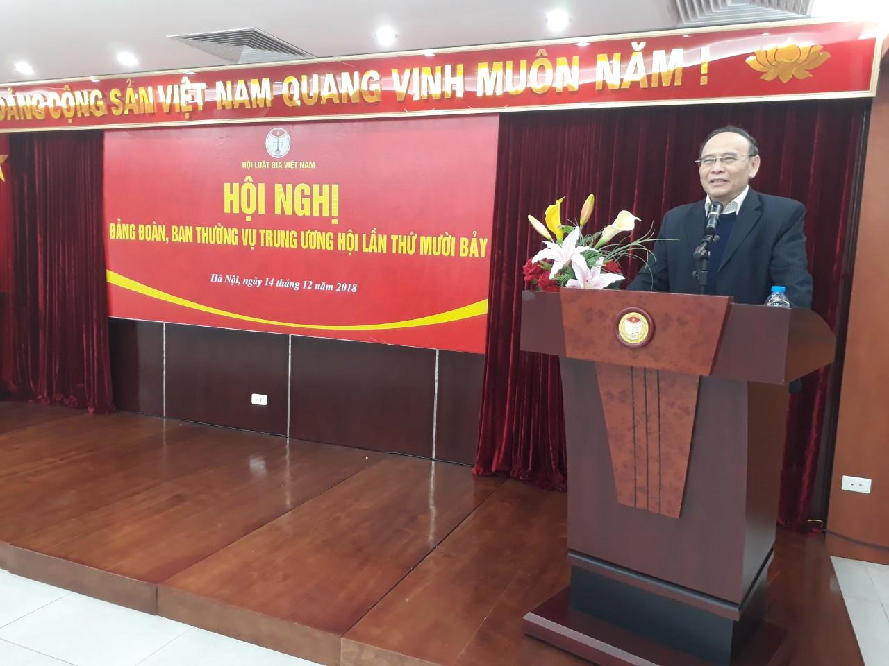 Đảng đoàn, Ban Thường vụ Trung ương Hội Luật gia Việt Nam họp Hội nghị lần thứ mười bảy
