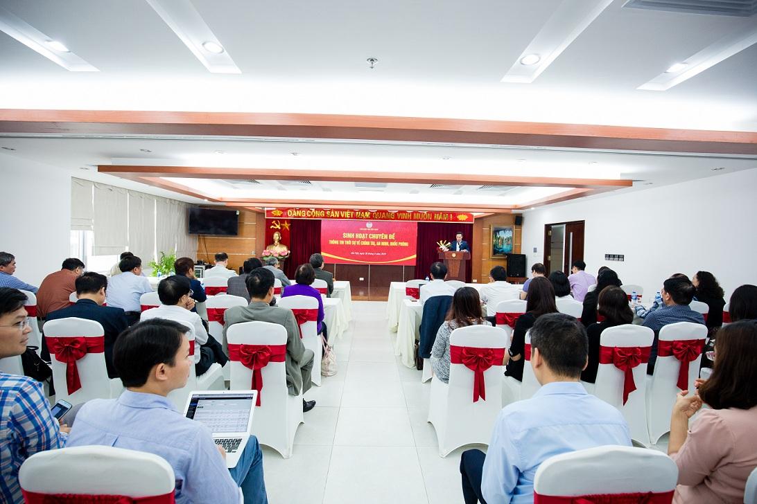Hội Luật gia Việt Nam tổ chức sinh hoạt chuyên đề: thông tin thời sự về tình hình chính trị, an ninh, quốc phòng