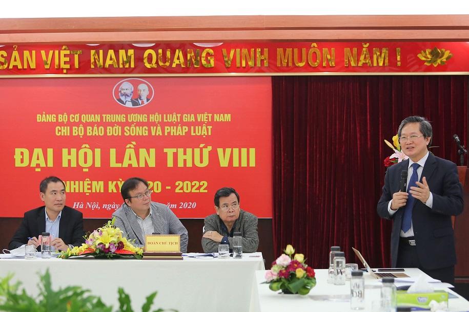 Các Chi bộ: Trung tâm Tư vấn pháp luật Thăng Long; Báo Đời sống và Pháp luật và Trung tâm TVPL cho người nghèo và phát triển cộng đồng tổ chức Đại hội nhiệm kỳ 2020 - 2022