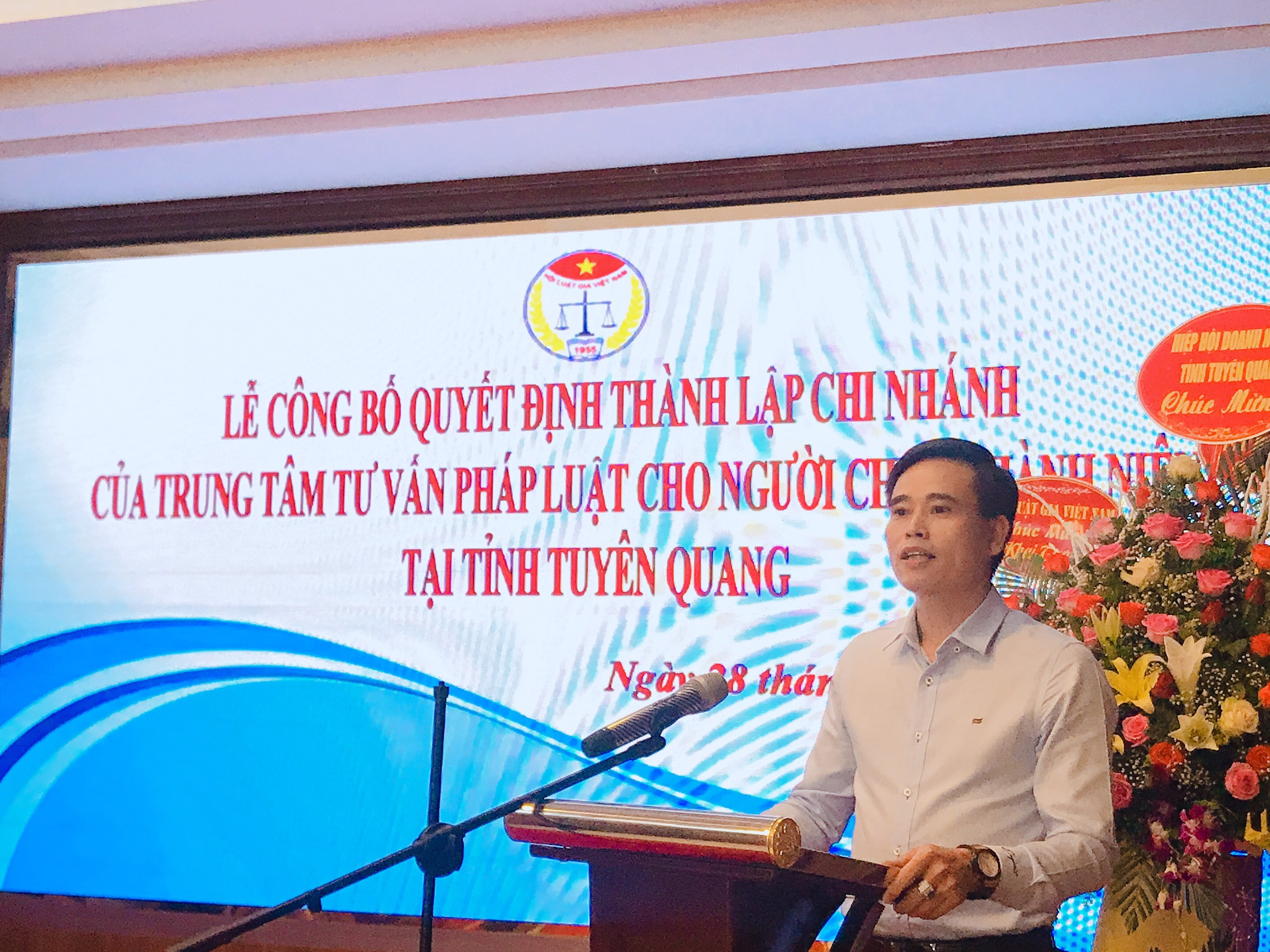 Lễ Công bố quyết định thành lập Chi nhánh Trung tâm Tư vấn pháp luật cho người chưa thành niên tại tỉnh Tuyên Quang