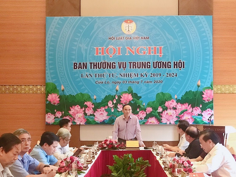 Ban Thường vụ Trung ương Hội Luật gia Việt Nam họp Hội nghị lần thứ tư