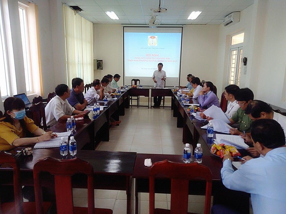 Hội Luật gia tỉnh Hậu Giang tổng kết công tác năm 2020, triển khai nhiệm vụ năm 2021
